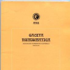 Catálogos y Libros de Monedas: GACETA NUMISMATICA NUMERO 113 AÑO 1994 ( CAT60 ). Lote 295552878