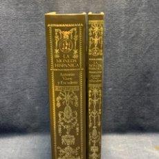 Catálogos y Libros de Monedas: 2 TOMOS LA MONEDA HISPANICA ANTONIO VIVES Y ESCUDERO MADRID 1926 TEXTOS LAMINAS 23X16X7CMS. Lote 295517123