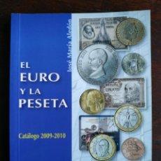 Catálogos y Libros de Monedas: EL EURO Y LA PESETA, 2002-2008, TRES CATÁLOGOS EN UNO EURO DE TODA EUROPA MONEDAS Y BILLETES ESPAÑA. Lote 296837893