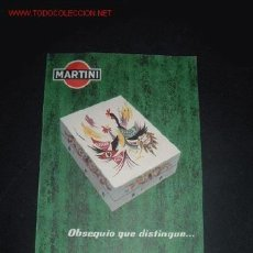 Catálogos publicitarios: FOLLETO PUBLICITARIO DE MARTINI AÑOS 50, AGENTE COMERCIAL VIUDA DE J. LLOPIS,ALICANTE. Lote 14620600