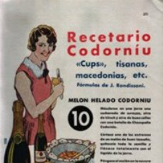 Catálogos publicitarios: CHAMPAÑA CODORNIU 1934. Lote 22361991