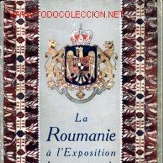 Catálogos publicitarios: LA ROUMANIE À L'EXPOSITION INTERNATIONALE DE BARCELONE - 1929. Lote 13847824