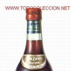Catálogos publicitarios: DÍPTICO PUBLICITARIO EN FORMA DE ** BOTELLA DE CINZANO **. Lote 679561