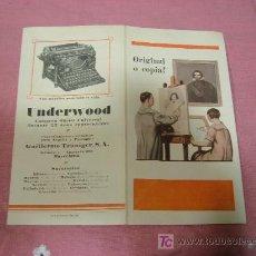 Catálogos publicitarios: UNDERWOD ORIGINAL O COPIA?. Lote 8932335