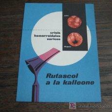 Catálogos publicitarios: RUSTACOL A LA KALLEONE PUBLICIDAD MEDICA ANTIGUA. Lote 5567101