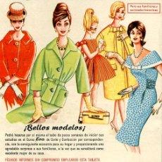 Catálogos publicitarios: EL CURSO EVA DE CORTE Y CONFECCIÓN 1960. ACADEMIA A.E.I. SAN SEBASTÍAN. Lote 5720370