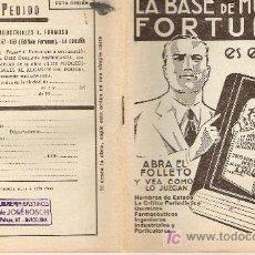Catálogos publicitarios: PROSPECTO INFORMATIVO DE LIBRO -AÑOS 40. Lote 6001127