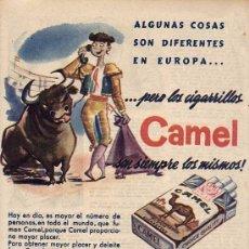 Catálogos publicitarios: PUBLICIDAD. ANUNCIO DE TABACO, CIGARRILLOS CAMEL. . Lote 24951360
