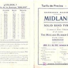 Catálogos publicitarios: BANDAJES MACIZOS MIDLAND. 1916. BARCELONA.. Lote 18946021
