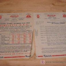 Catálogos publicitarios: LISTA DE PRECIOS AÑOS 1959. Lote 20656832