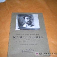 Catálogos publicitarios: SALA PARES EXPOSICION DE JOAQUIN SOROLLA 1863-1923-. Lote 17808280