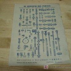 Catálogos publicitarios: BICICLETAS Y RECAMBIOS AMAT. Lote 21033748