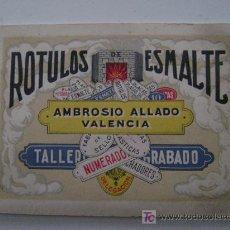 Catálogos publicitarios: AMBROSIO ALLADO-ROTULOS DE ESMALTE. Lote 261903935