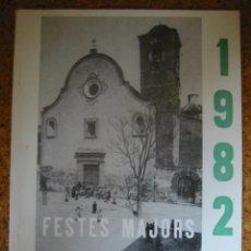 Catálogos publicitarios: FESTES MAJORS DE XERTA - 1982.. Lote 13781514