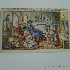 Catálogos publicitarios: ANUNCIO DE JABÓN CON GRACIOSA MORALEJA. FINES SIGLO XIX. Lote 20834461