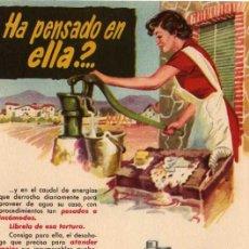 Catálogos publicitarios: FOLLETO PUBLICITARIO BOMBA BLOCH, AÑOS 40. Lote 8280706