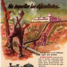 Catálogos publicitarios: FOLLETO PUBLICITARIO BOMBA BLOCH, AÑOS 40. Lote 8280757