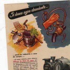 Catálogos publicitarios: FOLLETO PUBLICITARIO BOMBA BLOCH, AÑOS 40. Lote 8280780