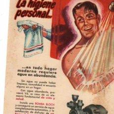 Catálogos publicitarios: FOLLETO PUBLICITARIO BOMBA BLOCH, AÑOS 40. Lote 8280806
