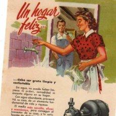 Catálogos publicitarios: FOLLETO PUBLICITARIO BOMBA BLOCH, AÑOS 40. Lote 8280813