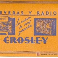 Catálogos publicitarios: NEVERAS Y RADIO CROSLEY. CASA V. SOCIATS. BARCELONA, [1933?]. 11 X 15 CM. . Lote 8465674
