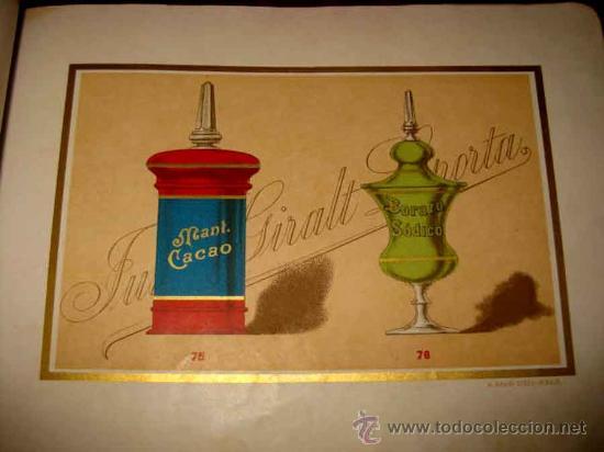 Catálogos publicitarios: ANTIGUO CATALOGO DE BOTAMENES PARA FARMACIAS - JUAN GIRALT LAPORTA - BARCELONA - MADRID - CATALOGO D - Foto 4 - 26892029