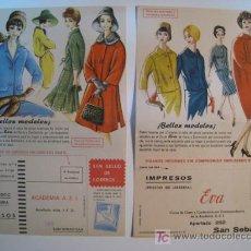 Catálogos publicitarios: LOTE 2 PROSPECTO PUBLICIDAD CURSO CORTE CONFECCION EVA. Lote 9321723