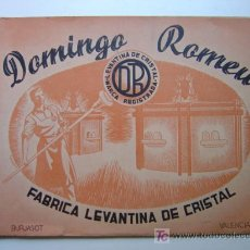 Catálogos publicitarios: DOMINGO ROMEU - FABRICA LEVANTINA DE CRISTAL - BURJASOT, VALENCIA - AÑO 1950. Lote 26948626