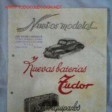 Catálogos publicitarios: BATERÍAS TUDOR. Lote 1263754