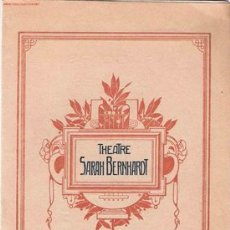 Catálogos publicitarios: FOLLETO TEATRO SARAH BERNHARD - PARÍS (CIRCA 1900). Lote 24625582
