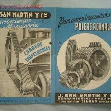 Catálogos publicitarios: LISTA PRECIOS POLEAS. Lote 13403643