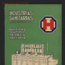 Catálogos publicitarios: INDUSTRIAS SANITARIAS. MATERIAL PARA LABORATORIOS, ACCESORIOS PARA FARMACIAS. BARCELONA, 1936. Lote 19030261