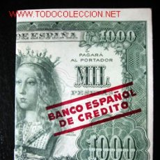 Catálogos publicitarios: INTERESANTE FOLLETO PUBLICITARIO DESPLEGABLE DEL BANCO ESPAÑOL DE CREDITO. Lote 7475164