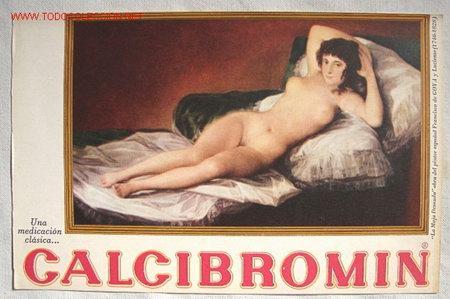 Publicidad De Medicamento Con La Maja Desnuda Y Vestida