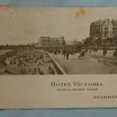 Catálogos publicitarios: PUBLICIDAD HOTEL VICTORIA. BIARRITZ. Lote 2204532