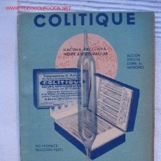 Catálogos publicitarios: PUBLICIDAD FARMACEUTICA COLITIQUE. Lote 2346358