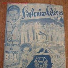 Catálogos publicitarios: FOLLETO - TEATRO PRINCIPAL, ALICANTE-SINFONIA EN COLORES-CON 8 PÁG. INC. LAS TAPAS.VER FOTOS. Lote 23324654