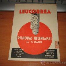 Catálogos publicitarios: LEUCORREA PILDORAS HELENIANAS DE V.NAUD. Lote 9914564