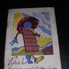 Catálogos publicitarios: COMO DEBEN TRATARSE LOS CHOCOLATES - NESTLE, PETER, CAILLER, KOHLER, - LA PENILLA ( SANTANDER ). Lote 10037140