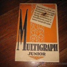 Catálogos publicitarios: MULTIGRAPH JUNIOR . Lote 10347175