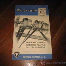 Catálogos publicitarios: FIRESTONE TARIFA Nº 7. Lote 12059573