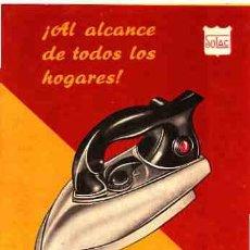 Catálogos publicitarios: CATALOGO DE PLANCHA ELECTRO-AUTOMATICA. Lote 10637191