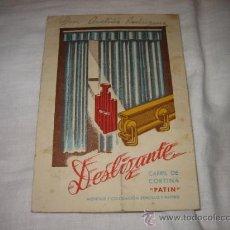 Catálogos publicitarios: DESLIZANTE CARRIL DE CORTINA PATIN . Lote 11649652