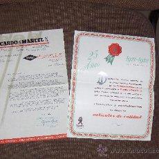 Catálogos publicitarios: RICARDO DE MANUEL SA, CORREAS TRIPLEX. BARCELONA. CARTA COMERCIAL Y CATALOGO.. Lote 20649682