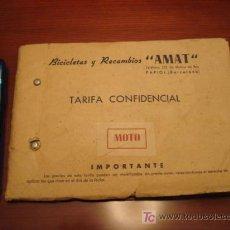 Catálogos publicitarios: BICICLETAS AMAT DE PAPIOL. Lote 17576570