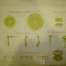 Catálogos publicitarios: LAMINAS DE CATALOGOS DE PLACAS CALADAS PARA CANCELA, MANUBRIOS PARA CANCELAS, TIRADORES PARA PORTON . Lote 16606045