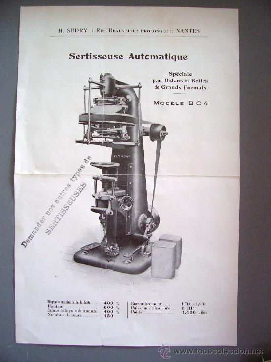 hoja publicitaria francesa para maquina de enga - Comprar Catálogos ...