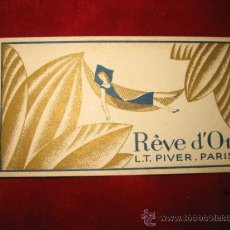 Catálogos publicitarios: TARJETA DE PERFUME REVE D´OR L.T. PIVER PARIS . Lote 13758124
