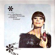Catálogos publicitários: FOLLETO PUBLICIDAD ANTIGUO DE LOS AÑOS 60 - BITTER CINZANO SODA. Lote 24644241