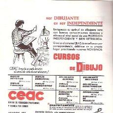 Catálogos publicitarios: FOLLETO PUBLICIDAD ANTIGUO DE LOS AÑOS 60 - CURSOS CEAC. Lote 24787984